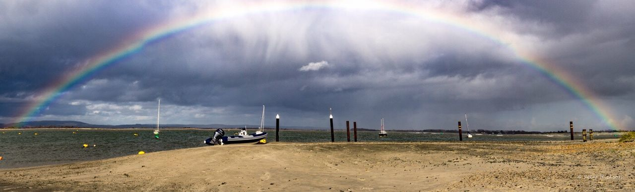 Bye Bye Storm Katie - Hayling Island  Storm Rainbow Beach Beachphotography Rainy Days Shower Chichester Harbour