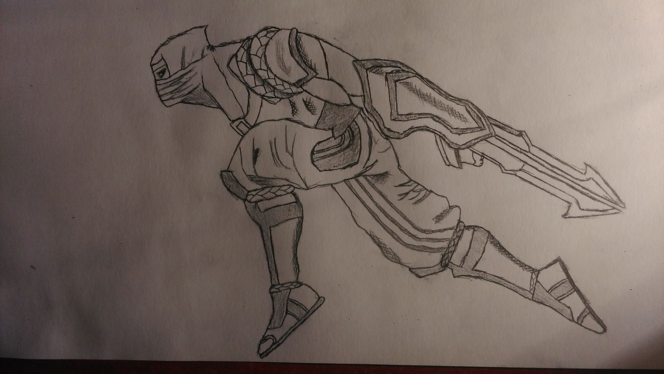 Pencil Drawing Art, Drawing, Creativity Drawing Zed Shock Blade Zed Skin League Of Legends LeagueofLegends Mid