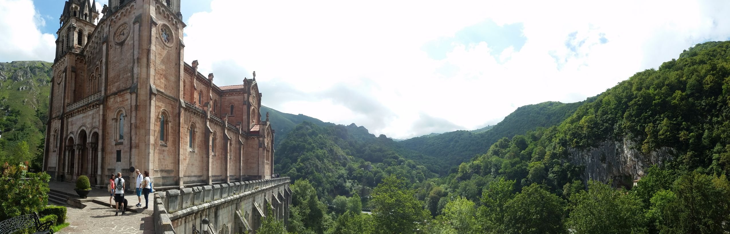 Mountain Architecture Mountain Range Asturias , Spain Mobile Photography Mountain_collection Landscape_Collection Panoramic Historical Building Covadonga Basilica Stonework Religious Buildings