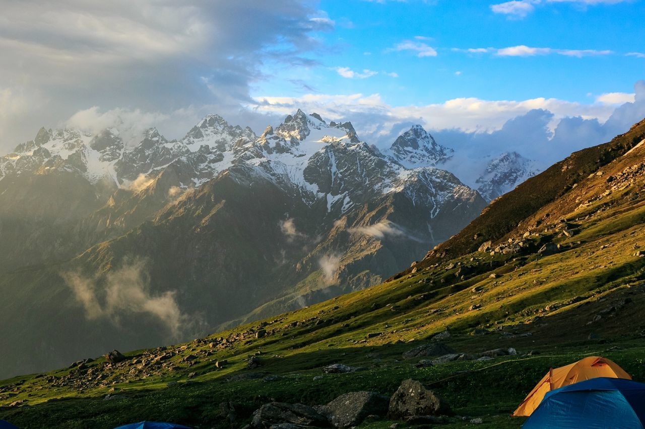 Living in Heaven. Sar pass, India MountainEyeEm Selects Mountain Range Landscape Valley Mountain Peak Nature Travel Cloud - Sky Fog Scenics Tourism Beauty Outdoors Sky Agriculture Lake Beauty In Nature Forest Travel Destinations Vacations