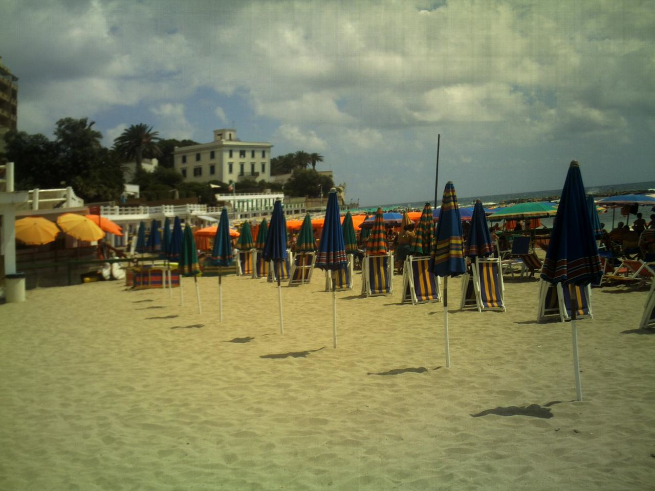 Beach Umbrellas On Beach
