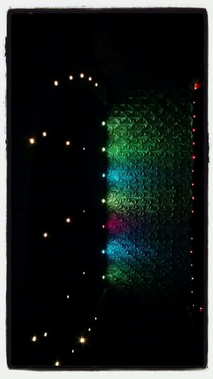 illuminated, night, no people, indoors, close-up, black background