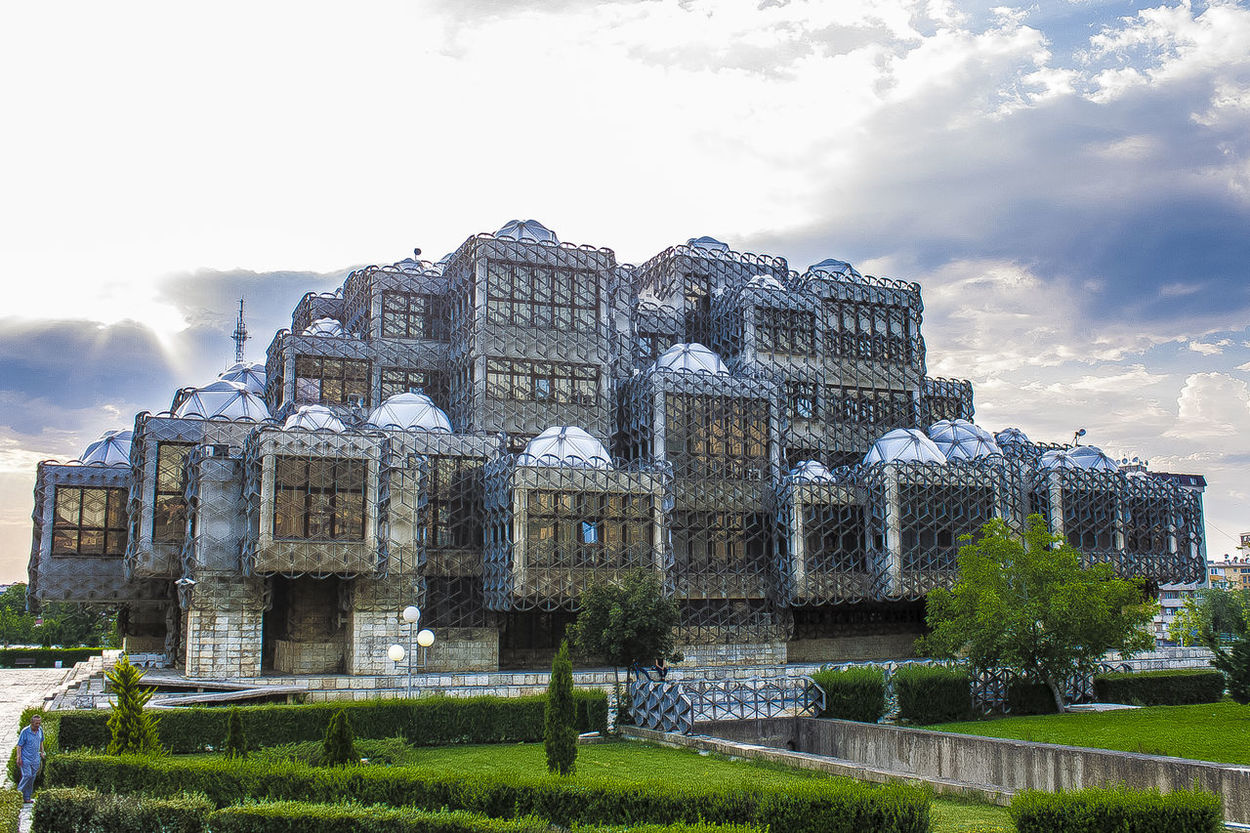 Architecture Balkans Building Exterior Built Structure Cloud - Sky Collect Exhibition EyeEm Gallery EyeEmBestPics Grass Historic Historical Building History Kosova Kosovo Miles Away National Library Nature Outdoors Preserve Pristina Pristine Promote Travel Destinations University