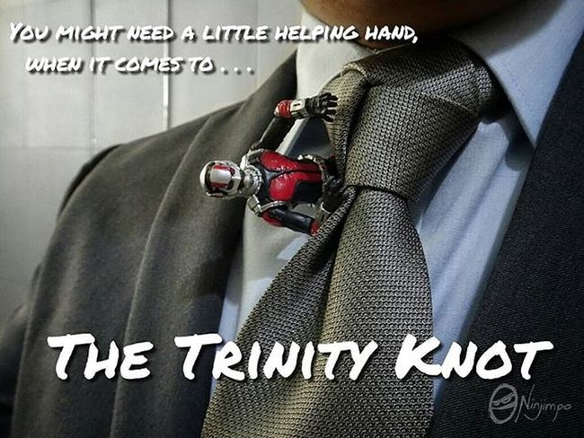Scott Lang's Antventures : When it comes to tying a necktie knot, it's okay to ask for help. Which is why I ask help from Antman and from http://www.ties.com/how-to-tie-a-tie I finally got to do a passable version of rhe Trinity knot! Afaa AfaaNinjimpo Scottlang Marvel Marvellegends Hasbro Suit Suits  Necktie Trinityknot Trinity Knot Fashion Formalwear Tie Dresstoimpress