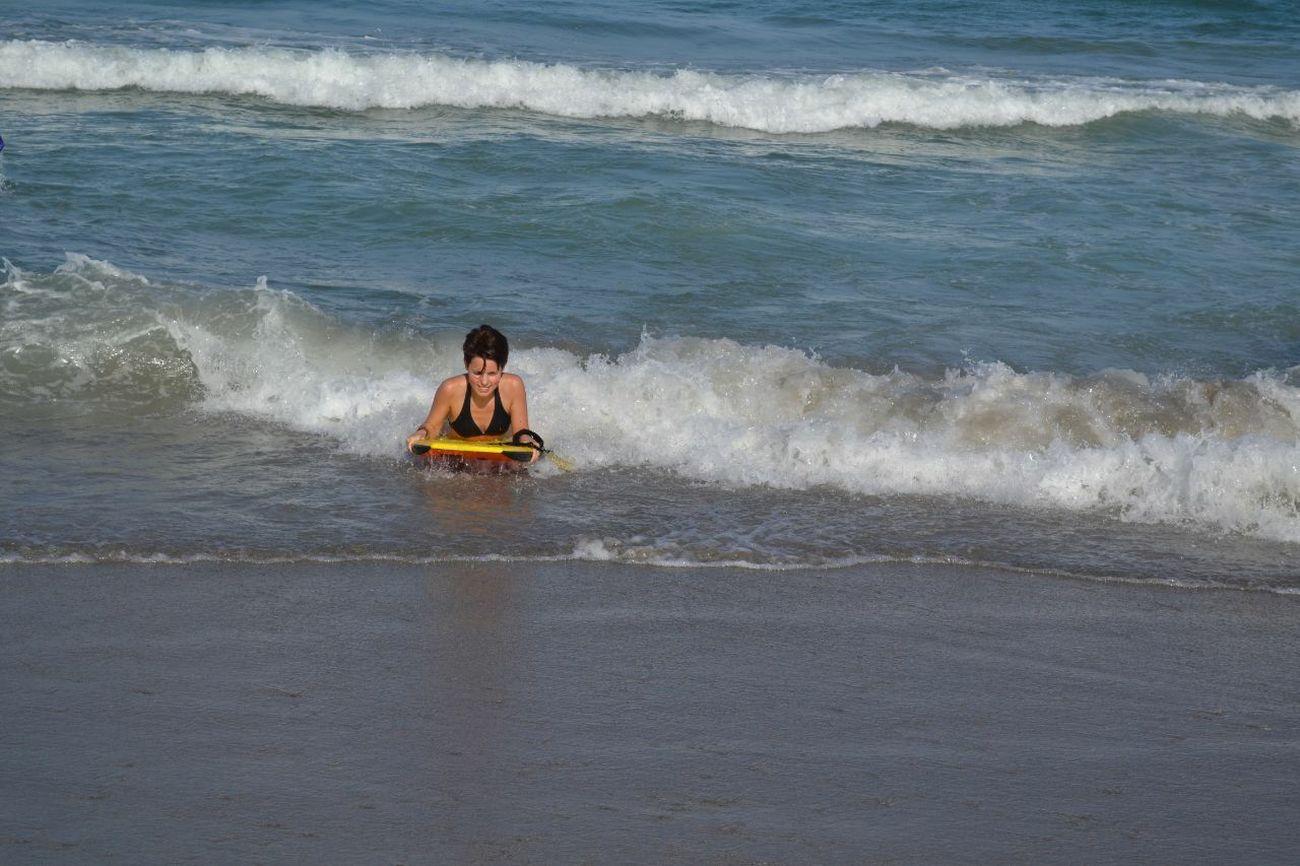 Beach BodyBoarding Day Ocean Sand Water Waves Woman