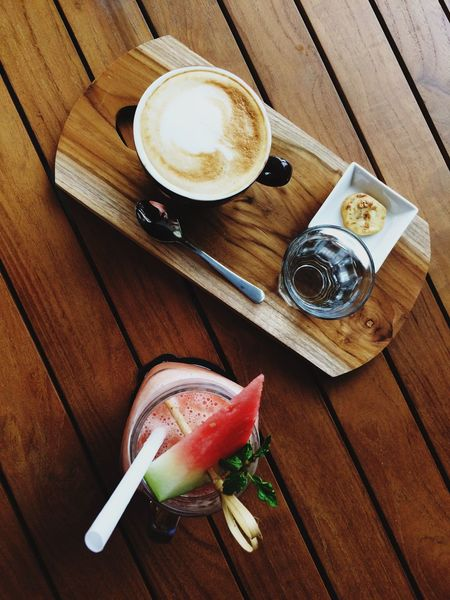 Drink Table Food And Drink Refreshment Coffee - Drink Food Freshness Froth Art No People Frothy Drink Plate Cappuccino Healthy Eating Indoors  Latte Ready-to-eat Day wood wooden fruit juice