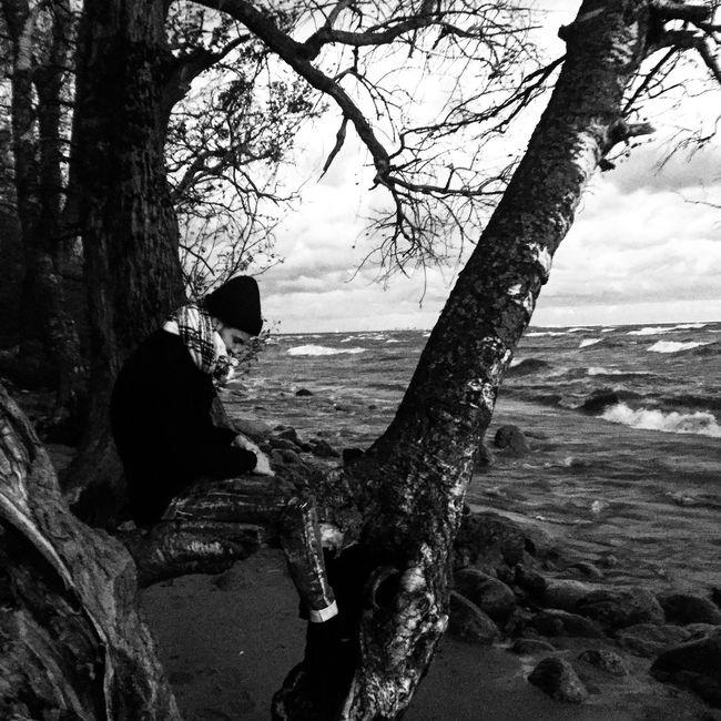 Repino 2016 Sea Monochromatic Monochrome Black & White Blackandwhite Photography Getting Away From It All Beach