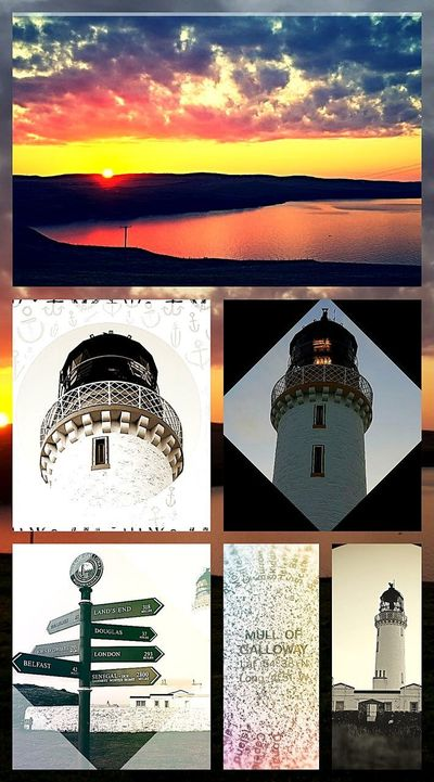 Sunset Outdoors No People Building Exterior Sky Day Collage Art Colage Of Photos The Great Outdoors - 2017 EyeEm Awards Mull Of Galloway Beauty In Nature Drummore Taking Photos Clouds And Sky Landscape Taking Pictures Ligjt And Shadow Light House On Dramatic Sky Light House Black And White Photography Edited My Way Edited S8Photography Creative Photography Creative Light And Shadow Color Photography
