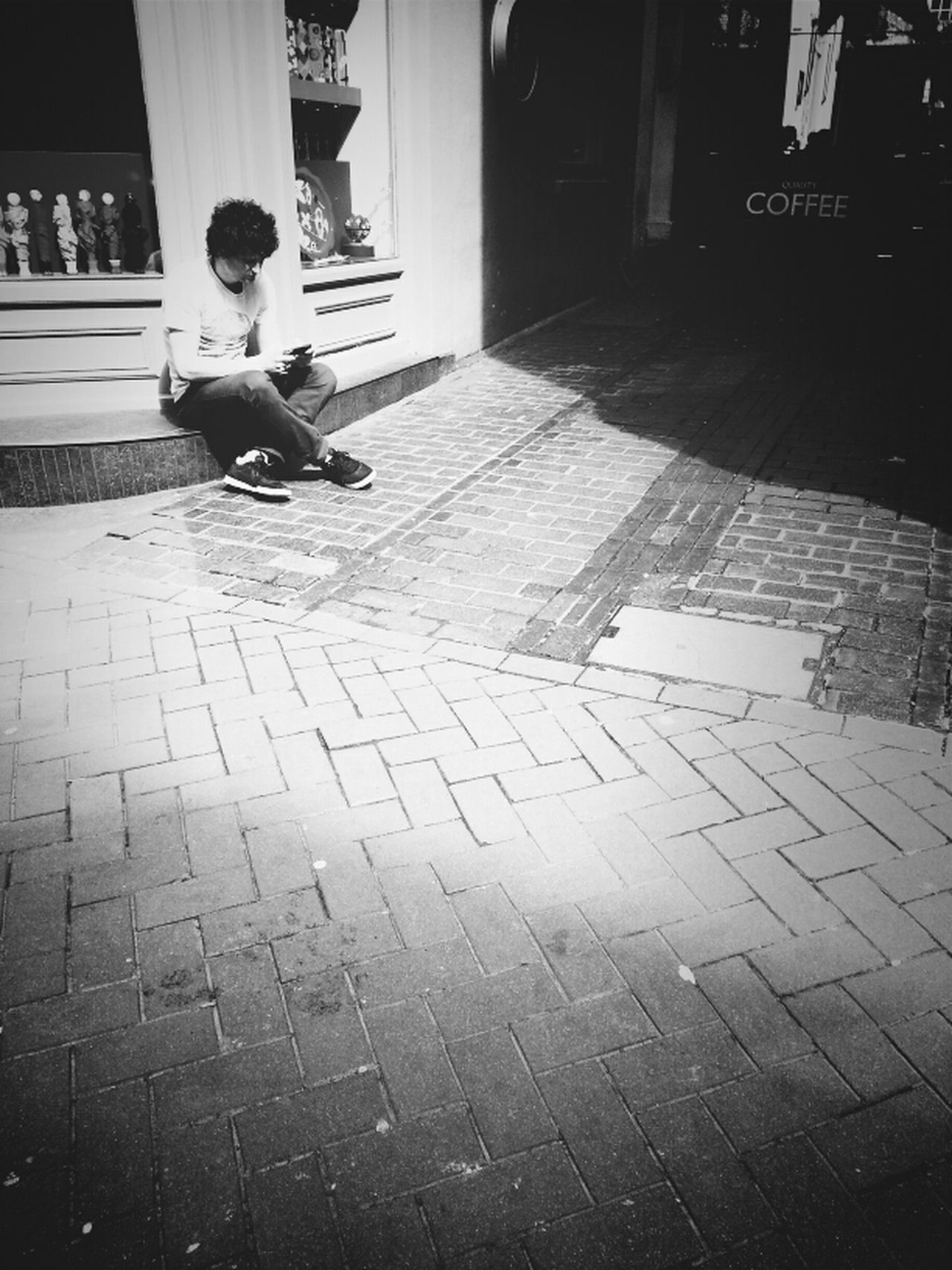 Coffee Break Streetphotography Blackandwhite Andrographer DroidEdit_BW