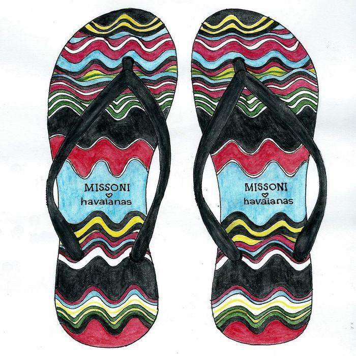 Havaianas Missoni Shoes Art, Drawing, Creativity Color Photography Aquarell Pencil Colorsplash