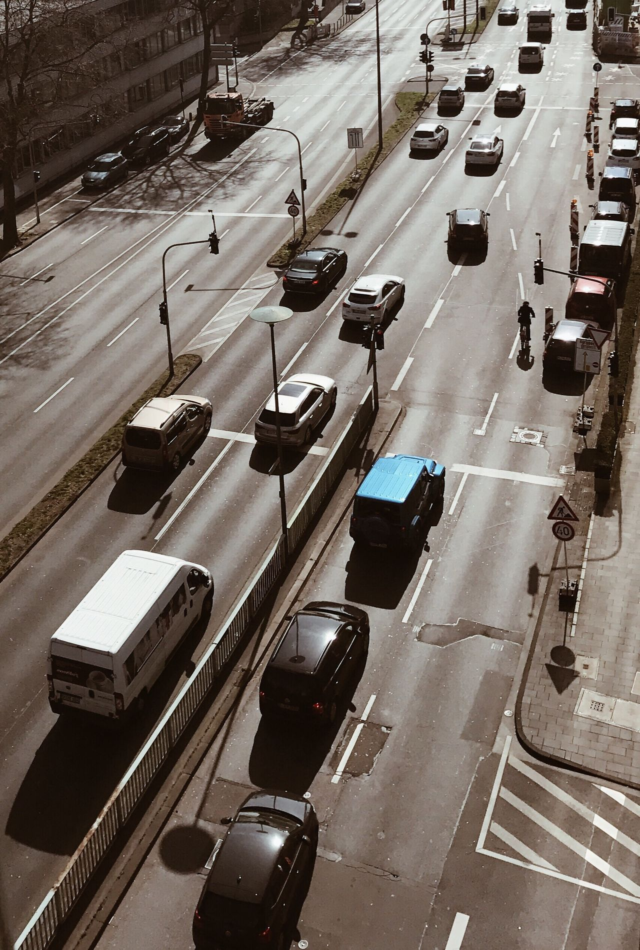 Flying High Dronephotography Transportation Car High Angle View Mode Of Transport Traffic Road Outdoors City Rush Hour Sunshine Urbanphotography Urban Life