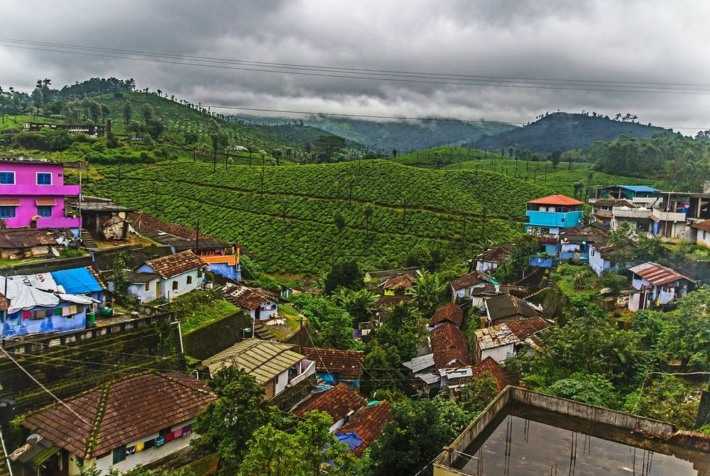 Cloud - Sky Landscape Field Brick Houses Tea Plantation  Nature Living No People Sky Tranquility Lifestyles Scenics Day Tree Mountain Architecture Outdoors Beauty In Nature After The Rain Hill Station Rainy Days ☔ Valparai