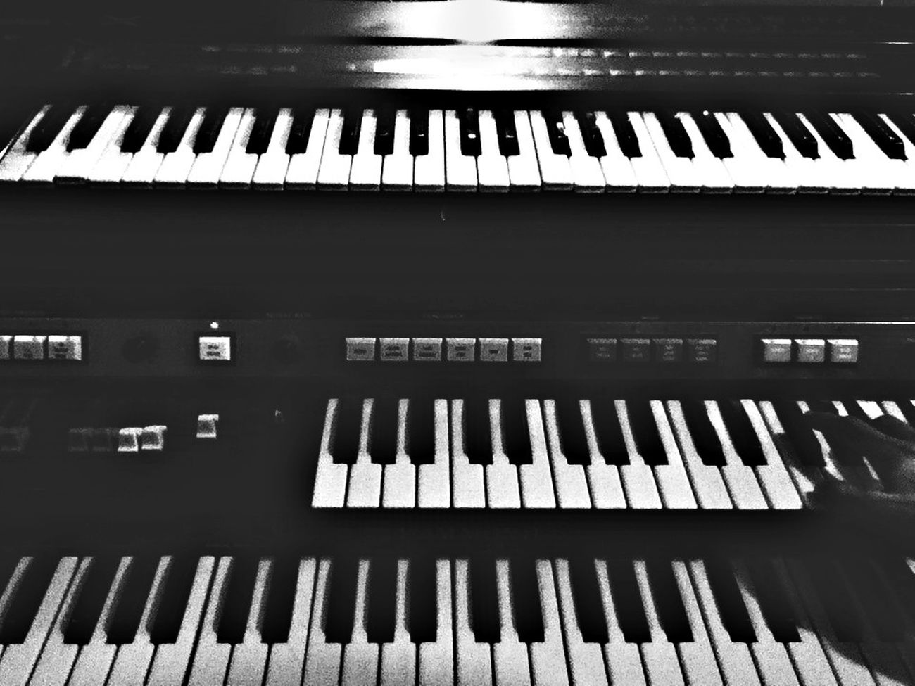 The Piano Relaxing Taking Photos Black&white.