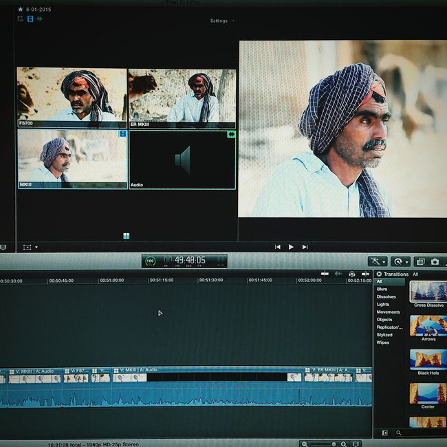And the edit begins... Editting Climatechange Documentary Postproduction ElectrikRoom FinalCutPro