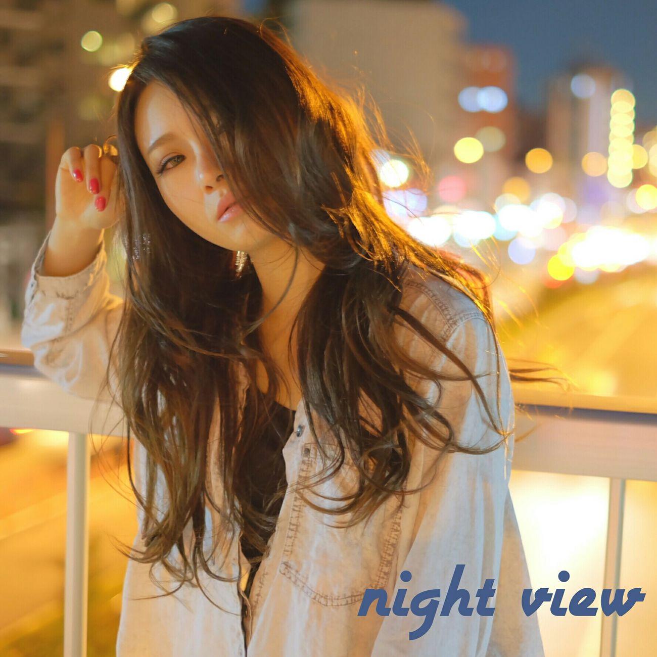 夜景 Nightview ロング Longhair ポートレート 被写体
