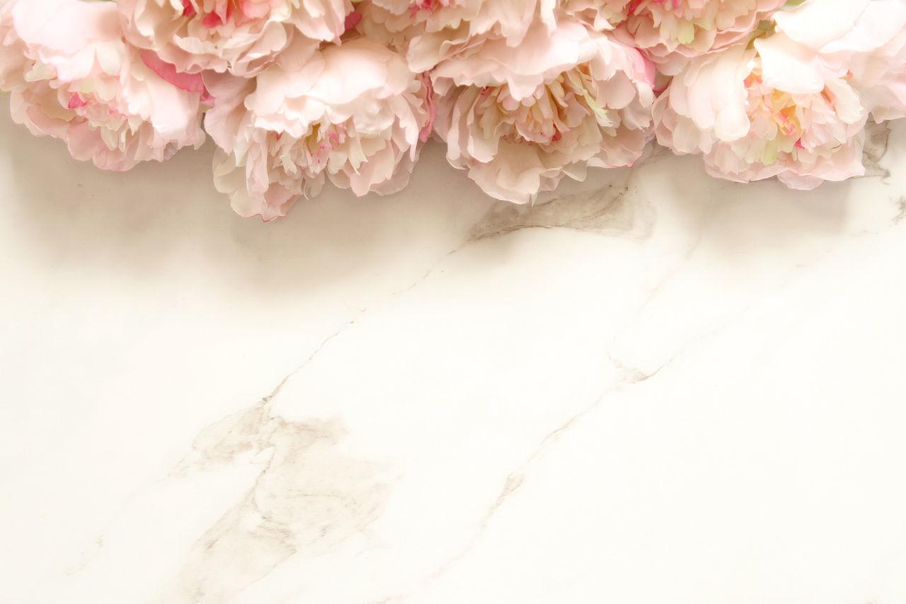 Peonies Border Botany Bouquet Bridal Desktop Elegant Floral Floral Frame Florist Flowers Frame Fresh Mock Up Overhead Overlay Pastel Petals Pink Romantic Soft Light Spring Styled Template Wedding White Marble