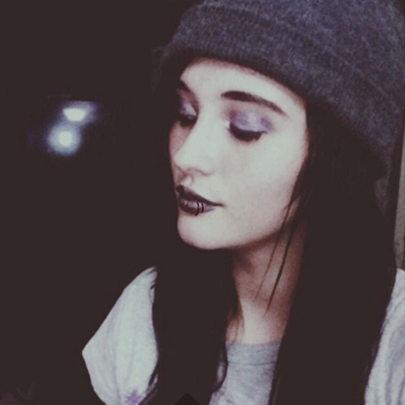 Getting my lip pierced soon, this is what I'd look like with it. I really like it. c: Model Music Single Cuddle