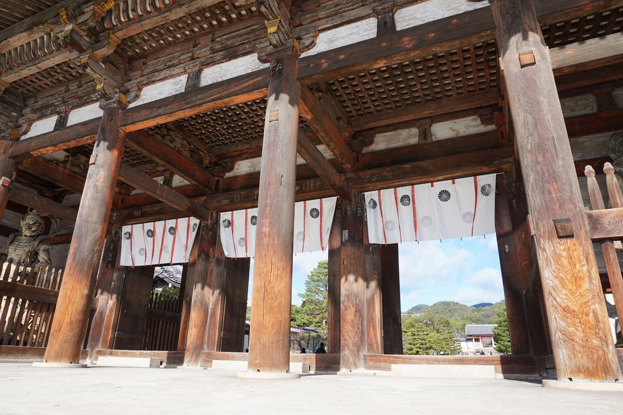 2016 Architecture Built Structure Japan Kyoto Ninnaji Pillar Religion Wood - Material World Heritage 京都 仁和寺 真言宗