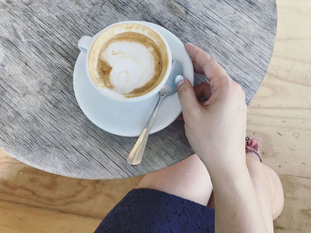 Morning Coffee a Soy Flat White Coffee