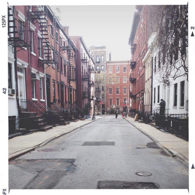 NYC Urban Landscape amazing little street in the village...favorite cafe on street