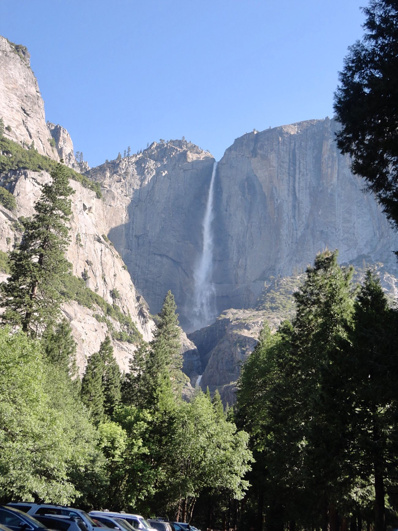 Yosemite Falls 739m⛰ Yosemite National Park California United States America USAtrip UNESCO World Heritage Site Waterfall USA Photos Yosemite WOW Beauty In Nature Outdoors EyeEm Nature Lover Clear Sky Enjoying The View Travel Photography Waterfall_collection Amazing Nature Great View ヨセミテ国立公園 カリフォルニア アメリカ 世界遺産 滝