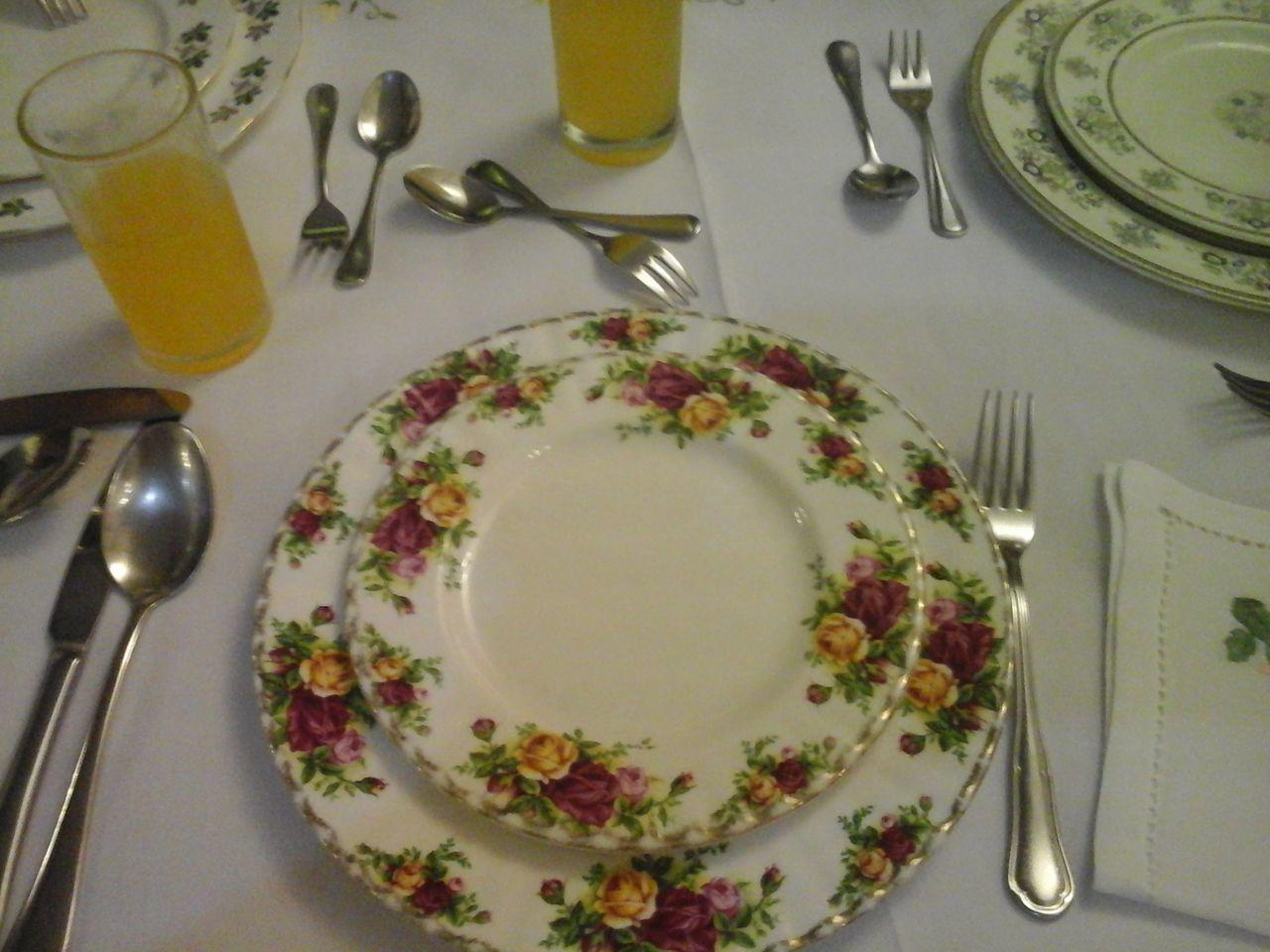 Showcase: February Bone China Table Arrangement BeforeAndAfter  Utensils Visual Feast