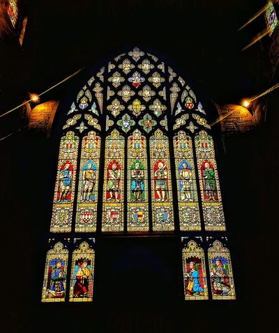 Mobilephotography Ludlow Church Stained Glass Stained Glass Window Stainedglass In Awe Religion Colorful Colours Colourful No People Glass Darkness And Light Lights Light Churches Taking Photos Inside Mobile Photography Man Made Structure Lookingup Eye4photography  From My Point Of View Silhouette