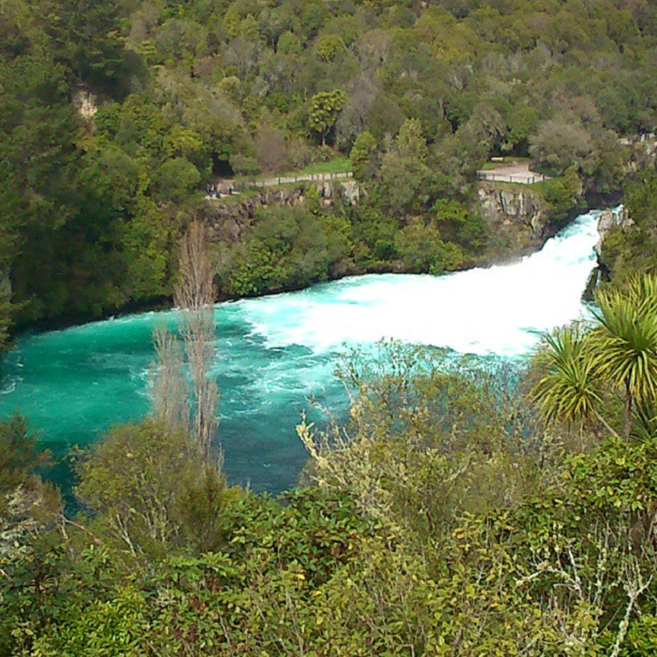 A Nofilter capture of the Clear Waters of NZ 's most visited and photographed tourist attraction, apparently... Huka falls