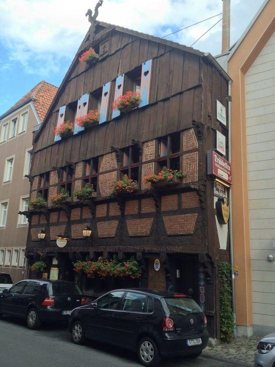 Walking Around Taking Photos Architecture - wonderful German food in this old restaurant Deutsche Küche