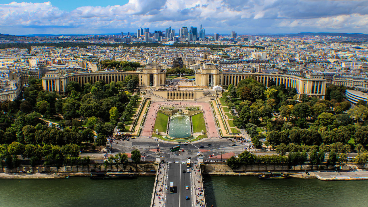 Aerial View Arch Architecture Bridge - Man Made Structure Building Exterior Built Structure Check This Out City City Break Cityscape Day EyeEm Gallery From Above  From My Point Of View History Monument No People Outdoors Paris, France  River Sena River Sky Travel Travel Destinations Urban Skyline