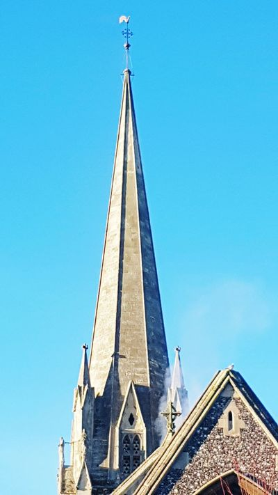 Blue Architecture Clear Sky History Place Of Worship Outdoors No People Sky Church St Martins Church