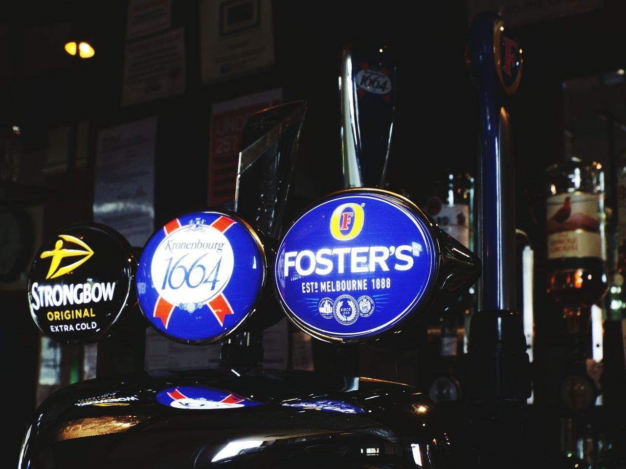 Fosters Kronenbourg Kronenbourg1664 1664 Strongbow Strongbow Cider Beer Pumps Pub