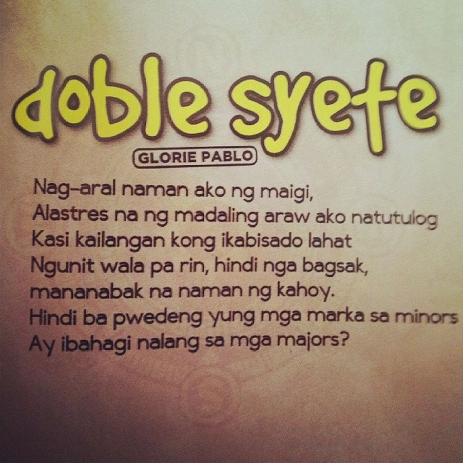 Doblesyete Sambinhi Dose Pasaporte doubt victory desire failure (c) Glorie Pablo