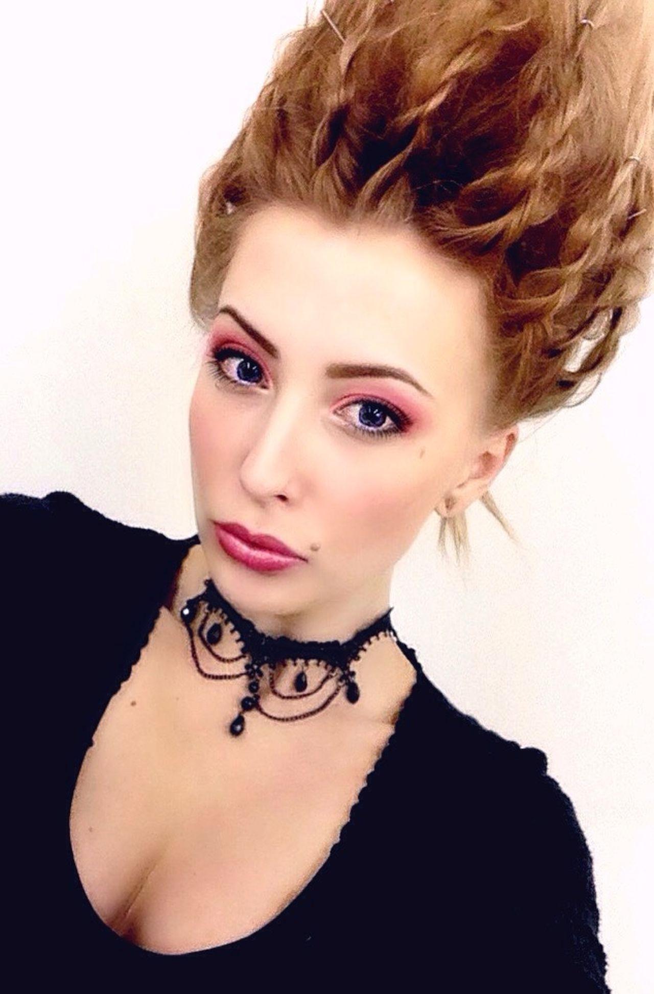 Portrait Beauty Make-up Fashion Pink Romantic Doll Dollface Big Eyes Pale Skin Fetish Rococo