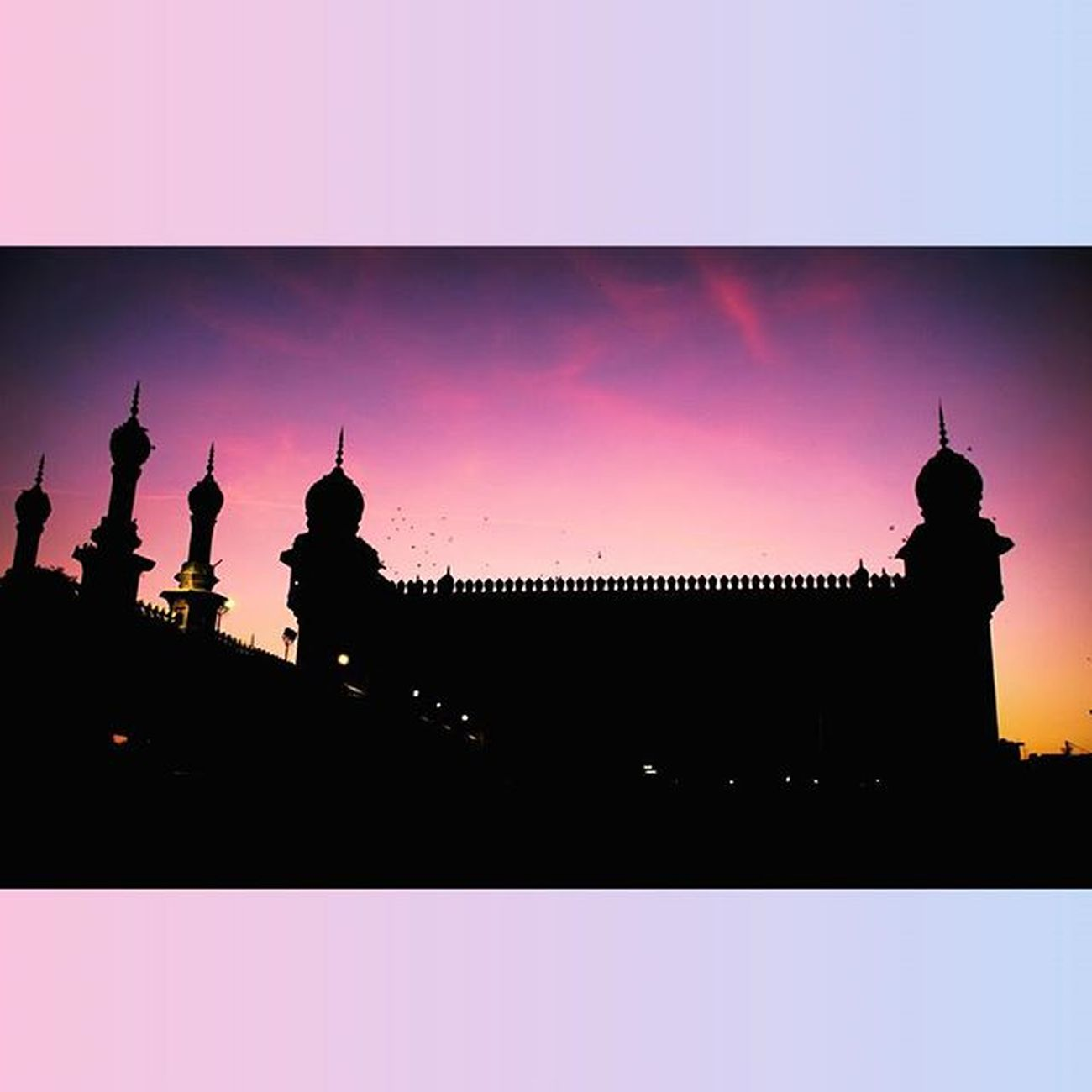 Mecca_masjid India Hyderabad City_of_perals Sunset Sky Canongallery Lowlight Lightroom Instalike Picoftheday Shadow Indiapictures