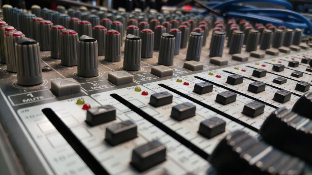 Sound Arts Culture And Entertainment Audio Control Board Depth Of Field Modern Music Sound Switch Technology