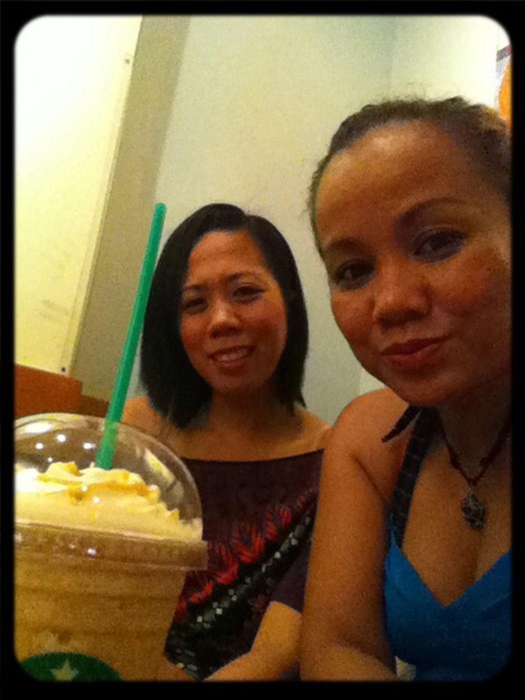 cafe latte ? having moment alone with my sister from another mother..??