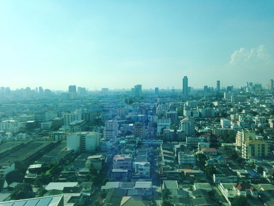 Bangkok skyline Skyline Cityscape Bangkok Ratchadapisek Town Strong Light Afternoon Break Snack Break Happy Afternoon
