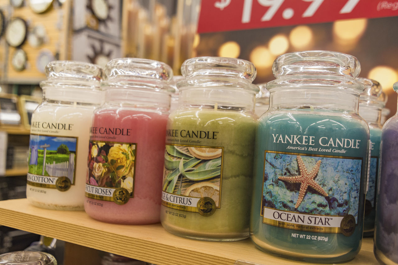 Abundance Bed Bath And Beyond Candle Focus On Foreground Freshness Indoors  Jar No People Price Tag Retail  Scented Candle Variation Yankee Candle Citrus  Citrus Fruit candles