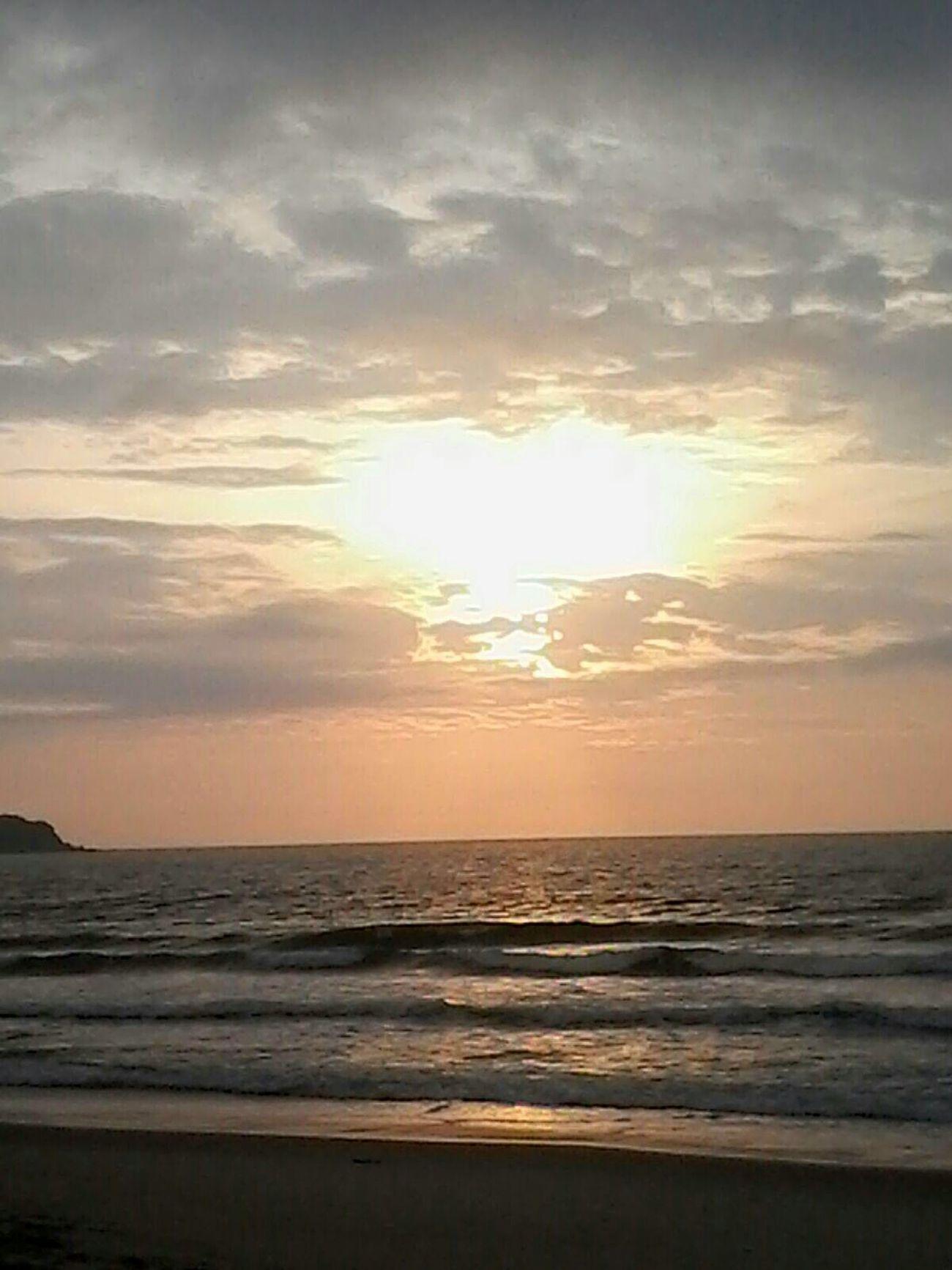 Sol Ceu Liindo! Céu Mar Nascerdosol Perfeito