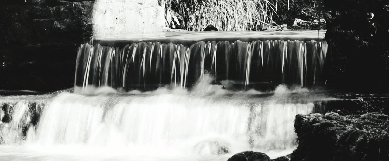 Waterfall Long Exposure Motion Water Nature No People Scenics Outdoors Day Beauty In Nature Misty Water Water In Motion Water Flow Stream River Beauty In Nature Tranquility Tranquil Scene Motion Blur Nature Smokey Smokey Water Cascade Slow Shutter Slowshutter Black And White Friday