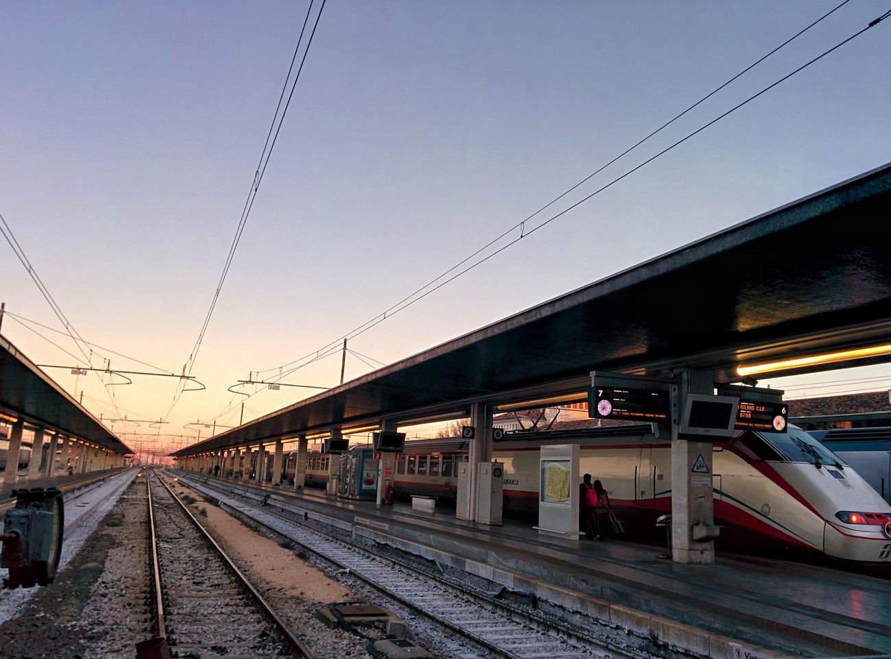 Railroad Track Transportation Rail Transportation Railroad Station Sunrise Sunrise_Collection Venice, Italy No People EyeEm Best Shots Travel Photography World Traveller EyeEmNewHere Structures & Lines