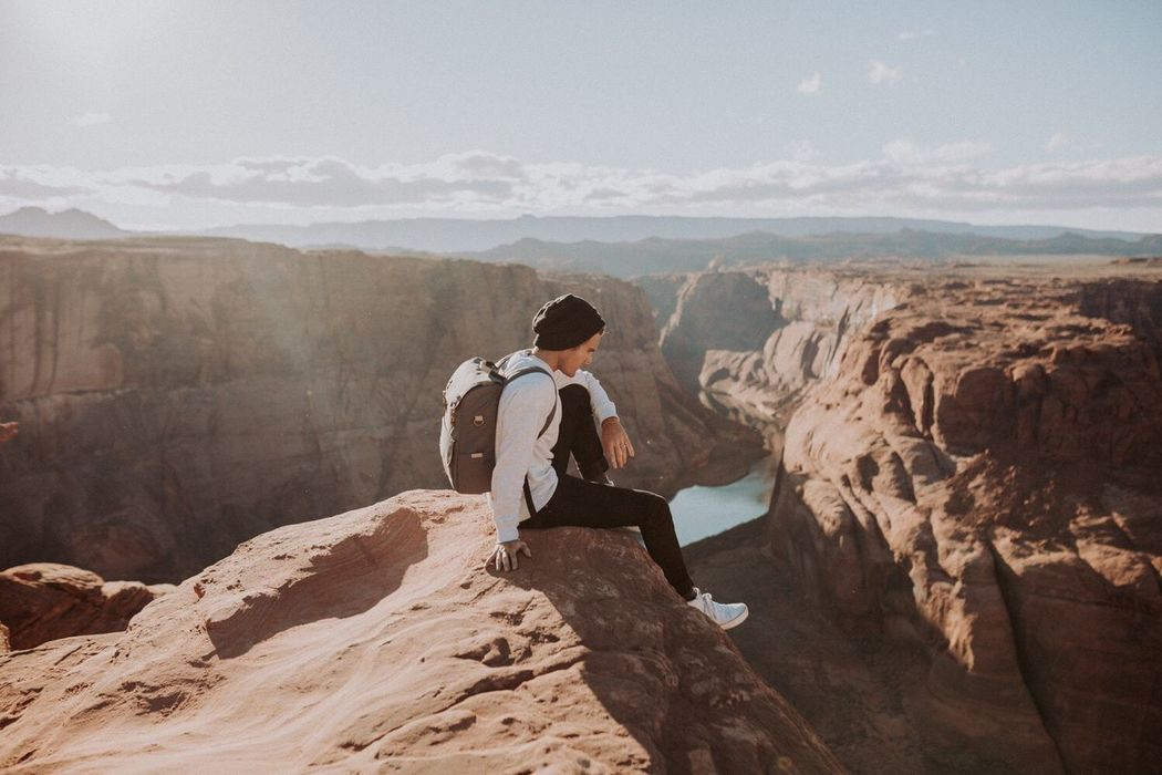 One Person Landscape Outdoors Adventure Sunset Horseshoe Bend Nature Travel Photography Travel Urban Outfitters