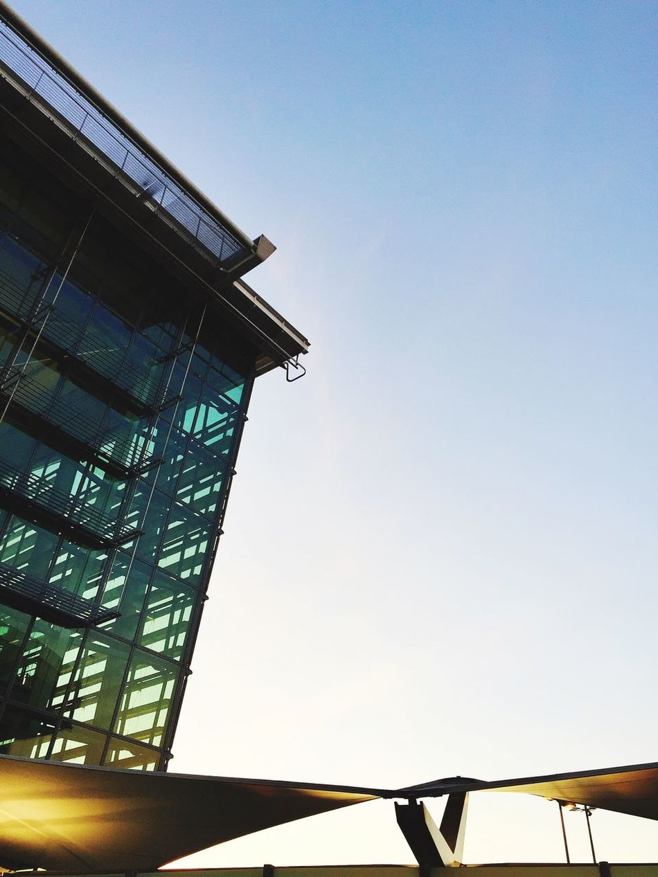 Low Angle View Copy Space Clear Sky Built Structure No People Architecture Building Exterior Outdoors Day Nature Sky Clear Urbanphotography Urban Geometry IPhoneography