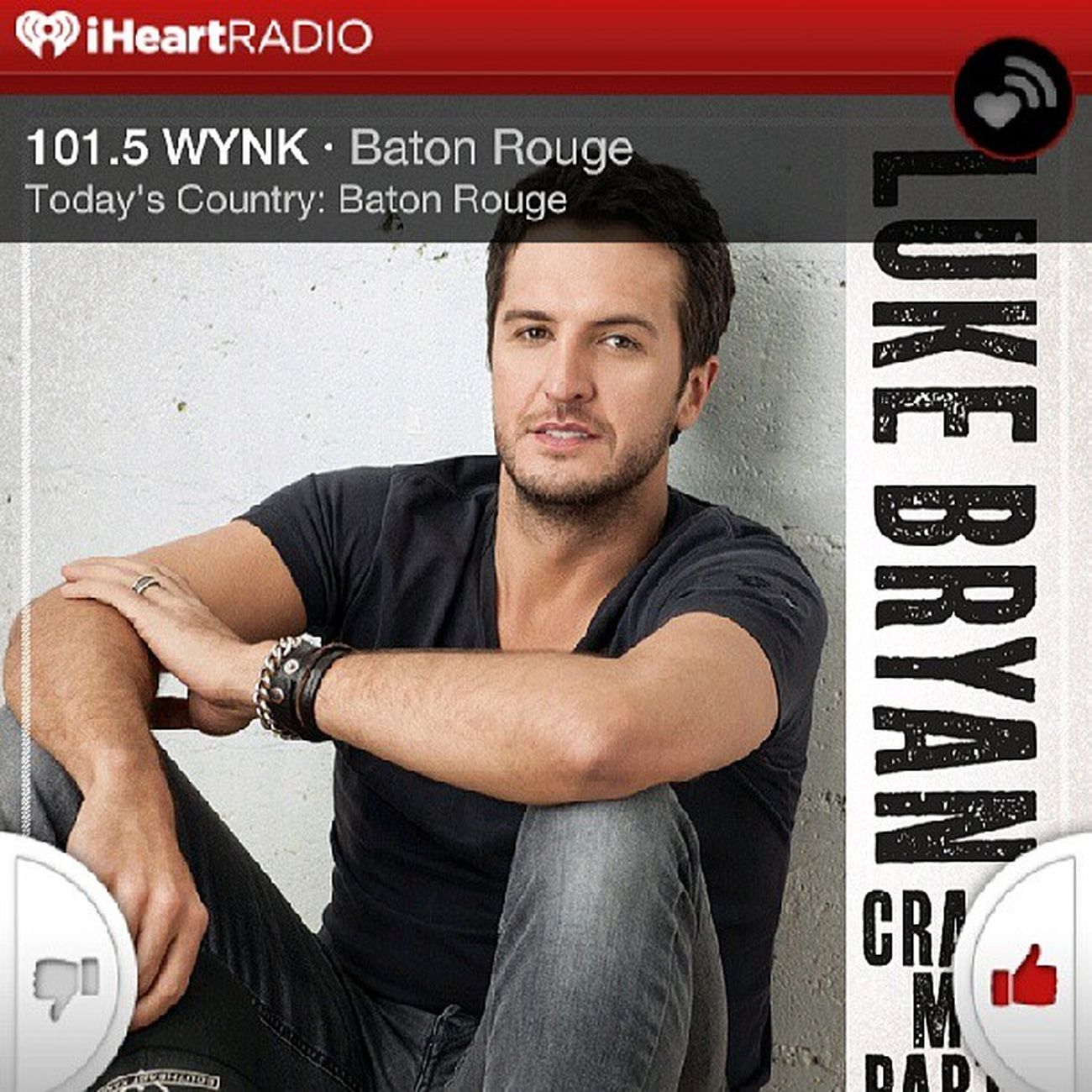 """This is a drop everything kinda thing. Swing on by, I'll pour you a drink. The door's unlocked, I'll leave on the lights. Baby you can crash my party anytime."" LukeBryan Crashmyparty Iheartradio BatonRouge"