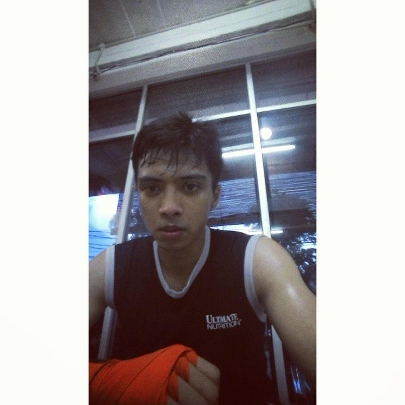 Full of sweat ...so tired but feel so fresh !! MuayThai Martialarts Fightingsport