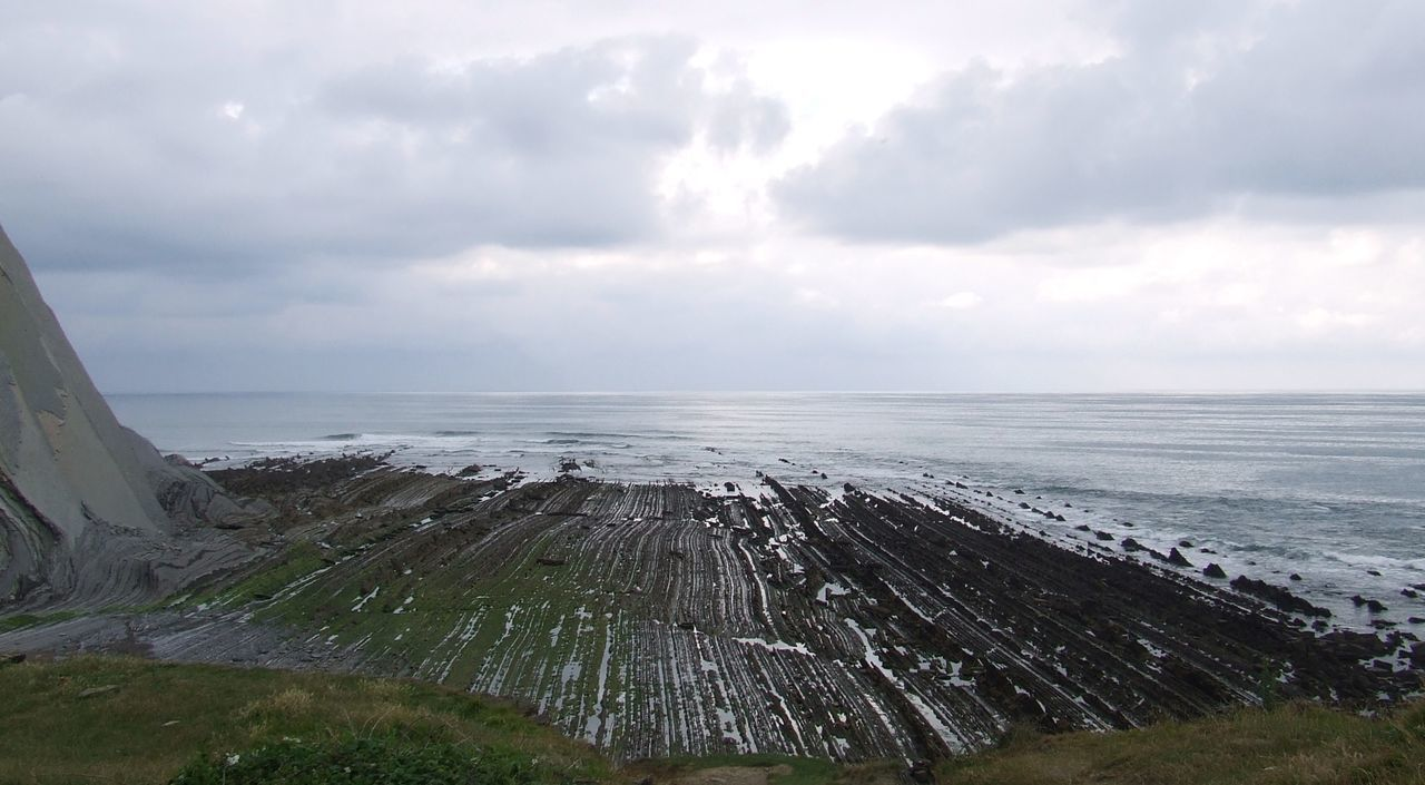 Basque Coast Basque Country Beauty In Nature Cantabric Sea Cantabrico Sea Cantábrico Cloudy Day Cloudy Sky Coast Coast Landscape Coastline Flysch Grass Grass And Sky Grassy Idyllic Nature Ruta De Los Flyschs Tranquil Scene Tranquility Water Waves And Rocks Waves Crashing Waves, Ocean, Nature