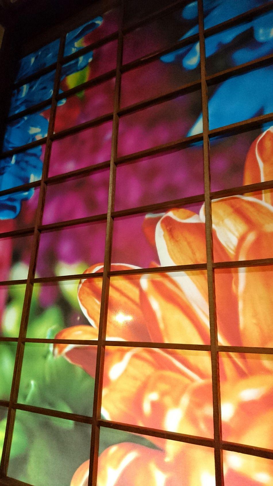 Colorful Flowers Shoji Window 蜷川実花 Ninagawa Mika Art Work Beautiful View Hello World Wonderful View Enjoying Life 道後温泉本館 (dogo Onsen) Matsuyama Travel Photography