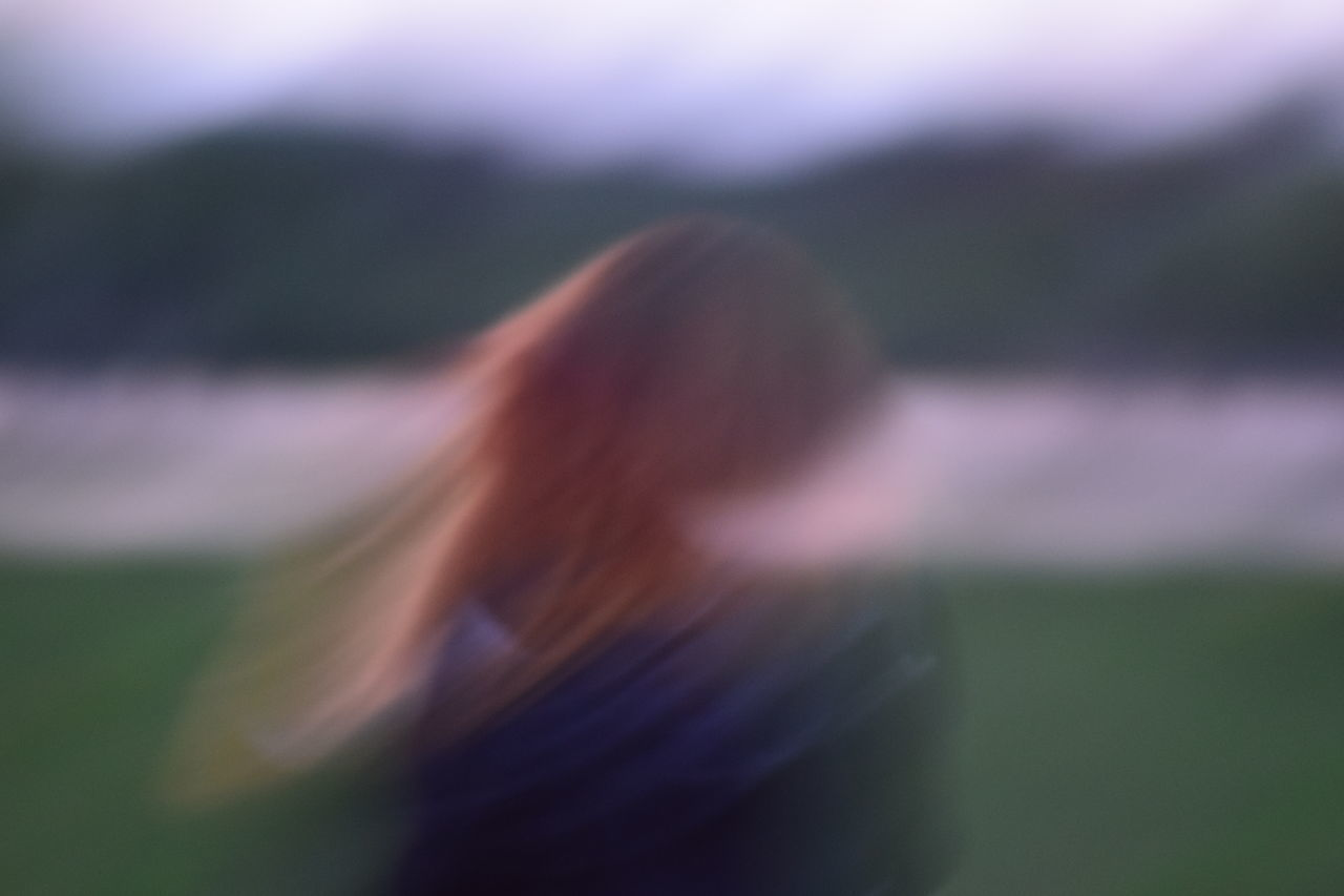 Blur Blured Blurred Blurred Background Blurred Motion Blurry Day Depession Focus On Foreground Help Me Long Hair People Person Rear View Standing Sunset Women