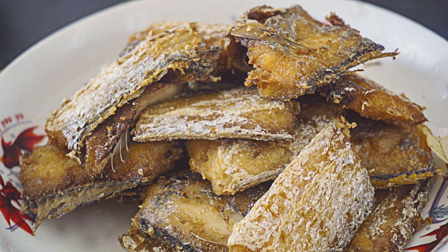Fried hairtail Chinese Food Meal Close-up Day Delicious Fish Food Food And Drink Freshness Fried Hairtailfish High Angle View Indoors  No People Plate Ready-to-eat